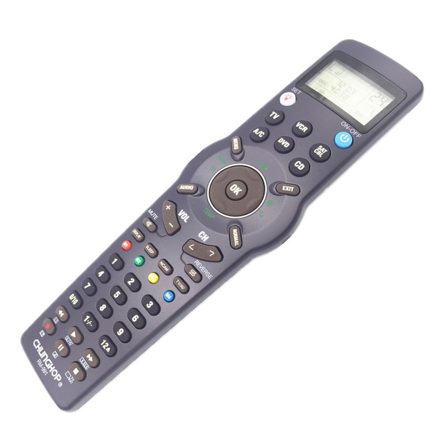 Freeshipping wholesale Chunghop RM-991 TV/SAT/DVD/CBL/CD/AC/VCR universal remote control learning  for 6 nets in 1 equipment