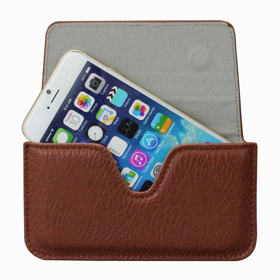 Leather Case Pouch Holster Belt Loop Clip Magnetic Button Closure Cover for Apple iPhone 6 Plus / 6s Plus (5.5 inch)(China (Mainland))