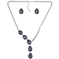 MS18061 Fashion Jewelry Sets Crystal Necklace Green Crystal Wedding Jewelry2014 New High Quality Party Gifts