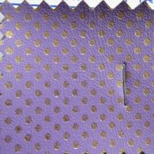 mini roll purple pu leather fabric with gold small dot  size  30cm X 138cm(China (Mainland))