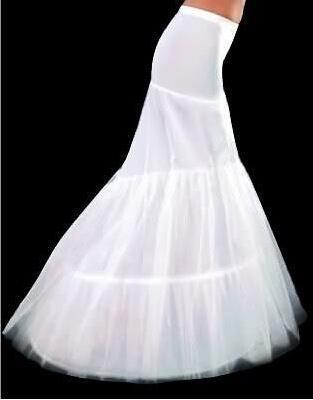 Petticoats Mermaid Crinoline White 2015 Bridal Underskirt Slip Two Hoops Full Length Petticoat Evening/Prom/Wedding Dresses - Ushine Wedding & Prom Factory store