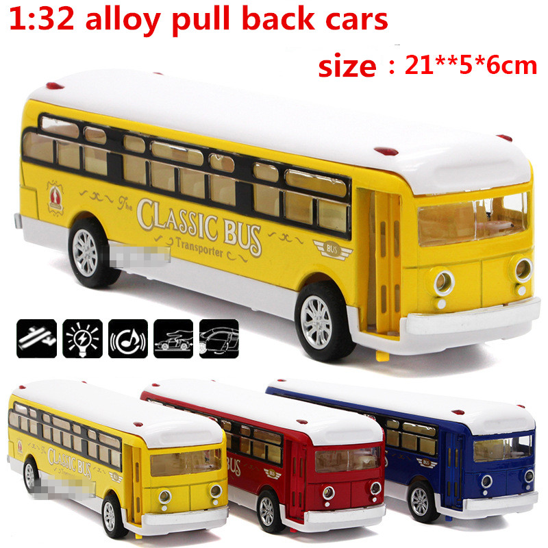 1:32 alloy pull back cars,high simulation school buses,metal casting,toy vehicles,musical & flashing,free shipping(China (Mainland))