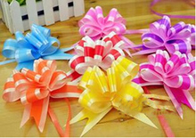100PCS Flower Ribbon Bows 3*52CM