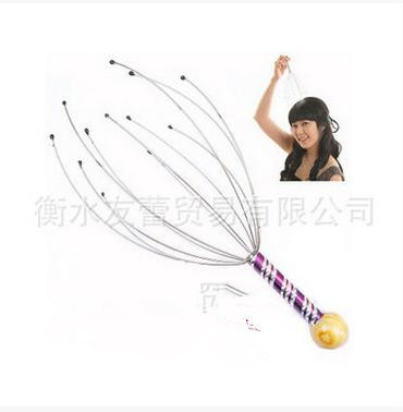 Octopus head massager catch the head manual care the brain fatigue bright eye awake brain functions mechanical(China (Mainland))