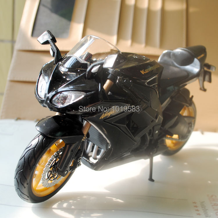 Brand New Motorbike Model Toys Kawasaki Ninja ZX-10R Black 1/12 Scale Diecast Metal Motorcycle Model Toy For Gift/Collection(China (Mainland))