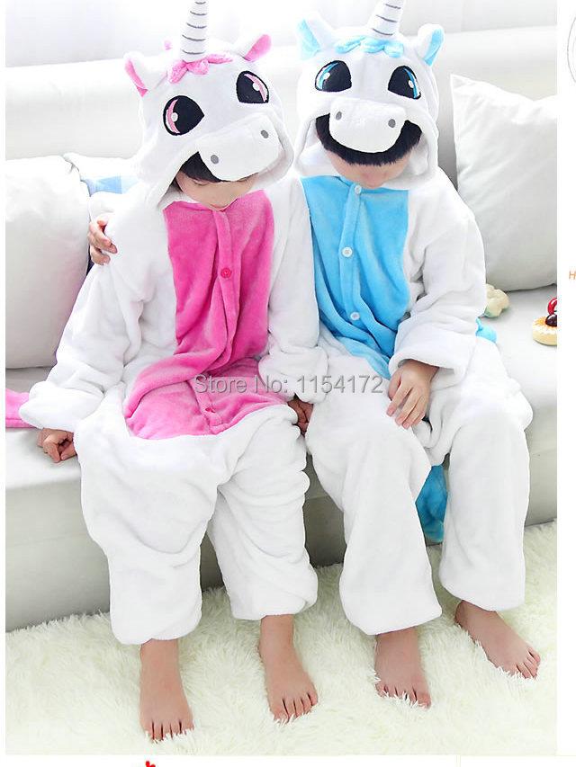 Enfants carton animaux licorne onesies pyjamas gar 231 ons filles costume