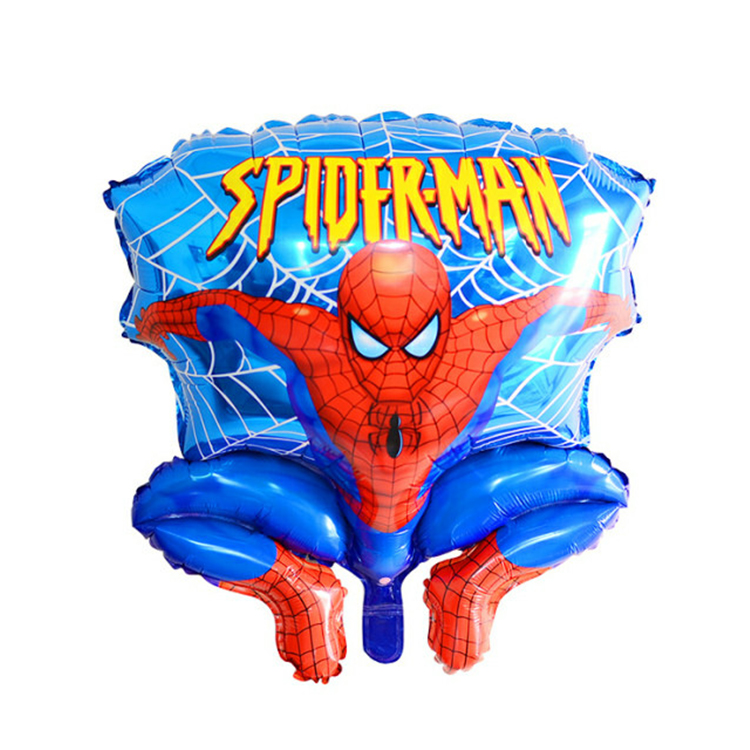 2 pcs/lot Spider man 65 cm aluminum film balloon children party Foil Balloons wholesale toys cartoon helium balloon(China (Mainland))