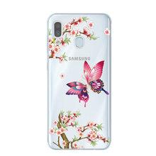 Мягкий силиконовый чехол для телефона с рисунком кота из мультфильма, чехол для samsung Galaxy A30 A305F A10 A20 A40 A50 A70, чехлы с цветами, чехлы(China)