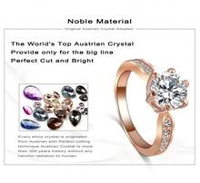 Kate Princess Wedding Rings 18K Rose Gold Platinum Plated Clear Zircon Womens Fashion Jewellery Ring Ri