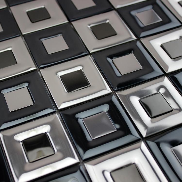modern stainless steel mosaic metal mosaic tiles for bathroom shower dining room wall tile bathroom shower kitchen backsplash<br><br>Aliexpress