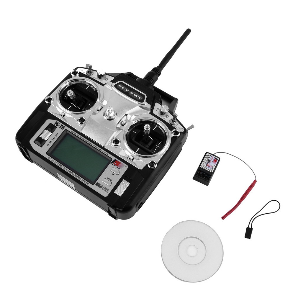 Flysky FS T6 6CH 2 4GHz Mode 2 Receiver and Transmitter R6 B for RC Quadcopter