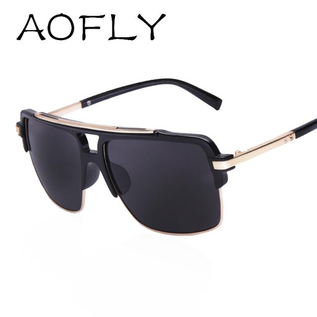 AOFLY Дизайн бренда 2016 женские мужские стильные солнцезащитные очки с рамкой из ...