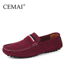 Fashion Suede Leather Men Flats, New Fashion Big Size Men Moccasins, Casual Leather Men Shoes, Brand Mens Leather Loafers(China (Mainland))