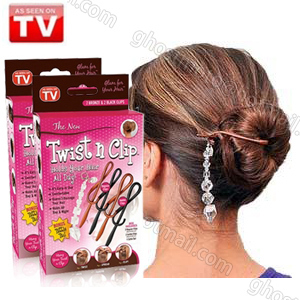 Twist n clip Pendants Simple and Easy Multifunctional Magic Dish Hair Clip stick Hair disk Hair Device Salon Tool(China (Mainland))