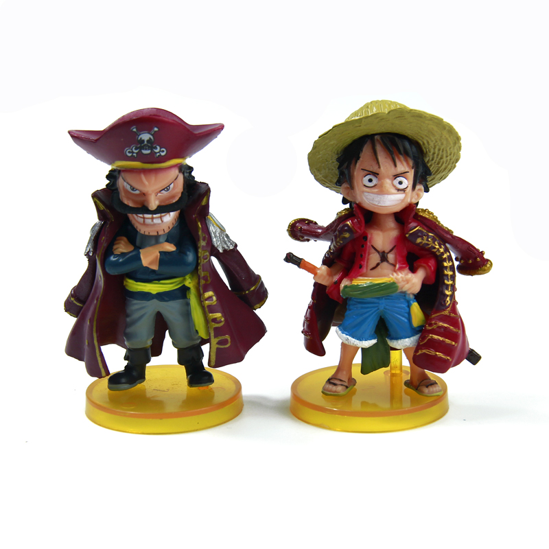 Luffy Roger 8cm Figure Model One Piece Toy Monkey D Luffy Gol D Roger action figure anime cartoon doll(China (Mainland))