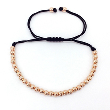 High Quality Brand Anil Arjandas 4mm Copper Round Beads Macrame Braided Men Bracelets For Men Women Jewelry Gift