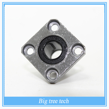 3d printer parts 2pcs LMK10UU 10 mm bearing square flange ball bearing bush for 10mm linear guide rail rod axis cnc diy