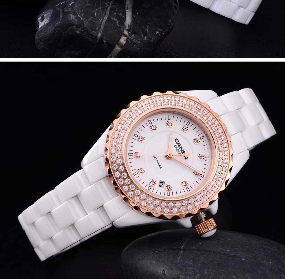 Watches Fashion Women Luxury Brand Lady Ceramic quartz Watch Women's Wristwatches waterproof CASIMA # 6702