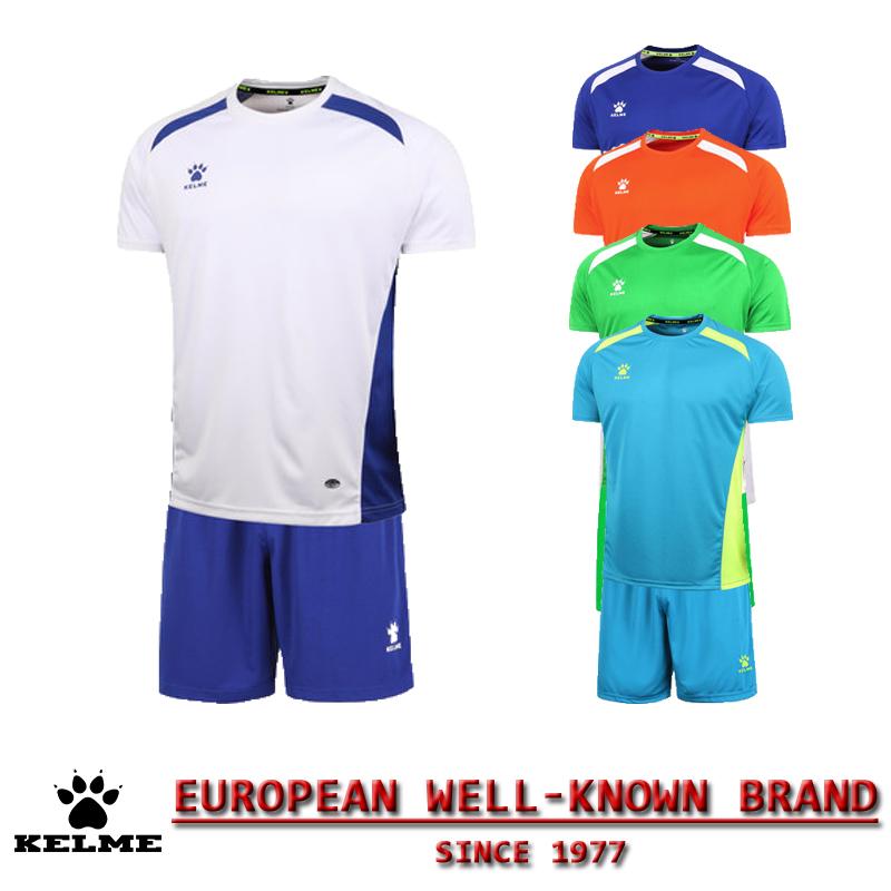 KELME Official Authentic Spain Hombre Soccer Uniforms Sets Team Short Football Training Suits Customize Soccer Uniforms Kit 08(China (Mainland))
