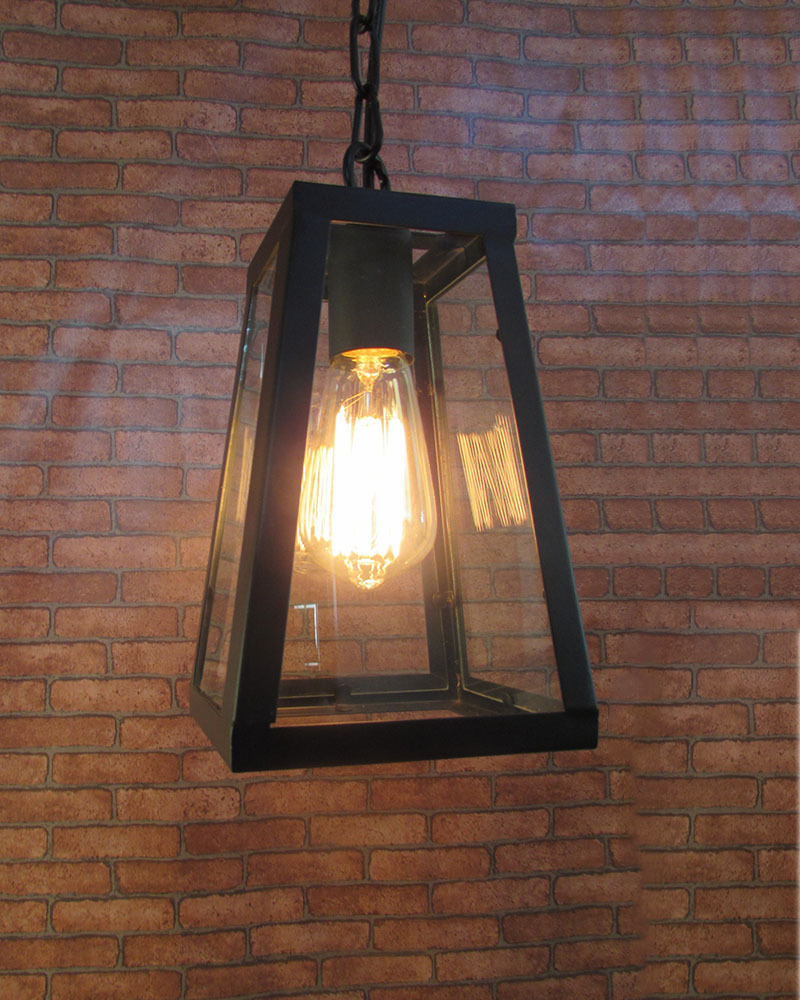 Industrial Vintage Retro Style Iron Framed Glass Shade Pendant Lamp Lampfair(China (Mainland))