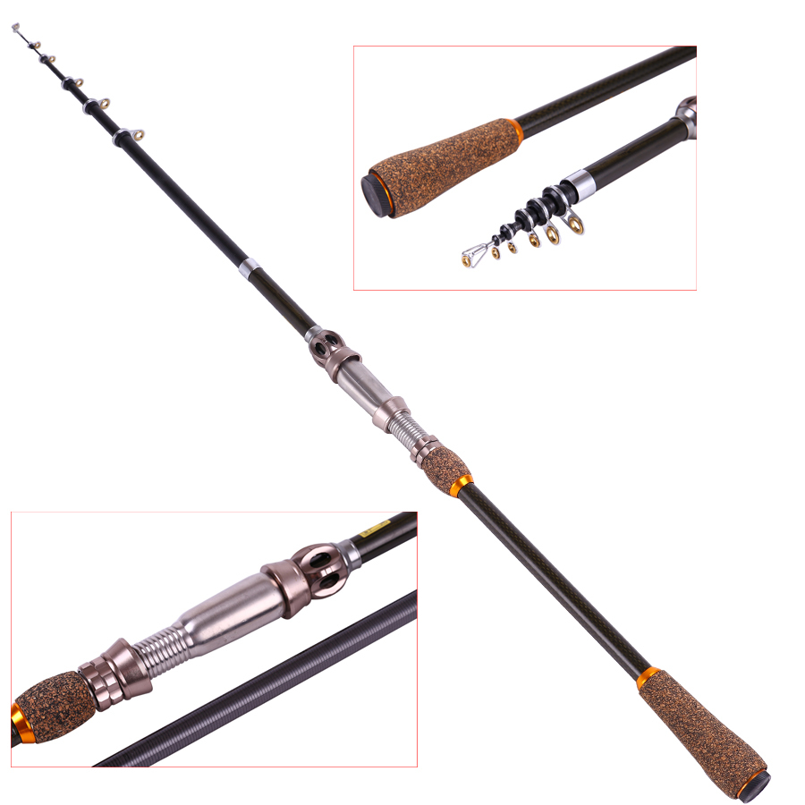 High quality 1 8 telescopic fishing rod carbon fiber for Carbon fiber fishing rod