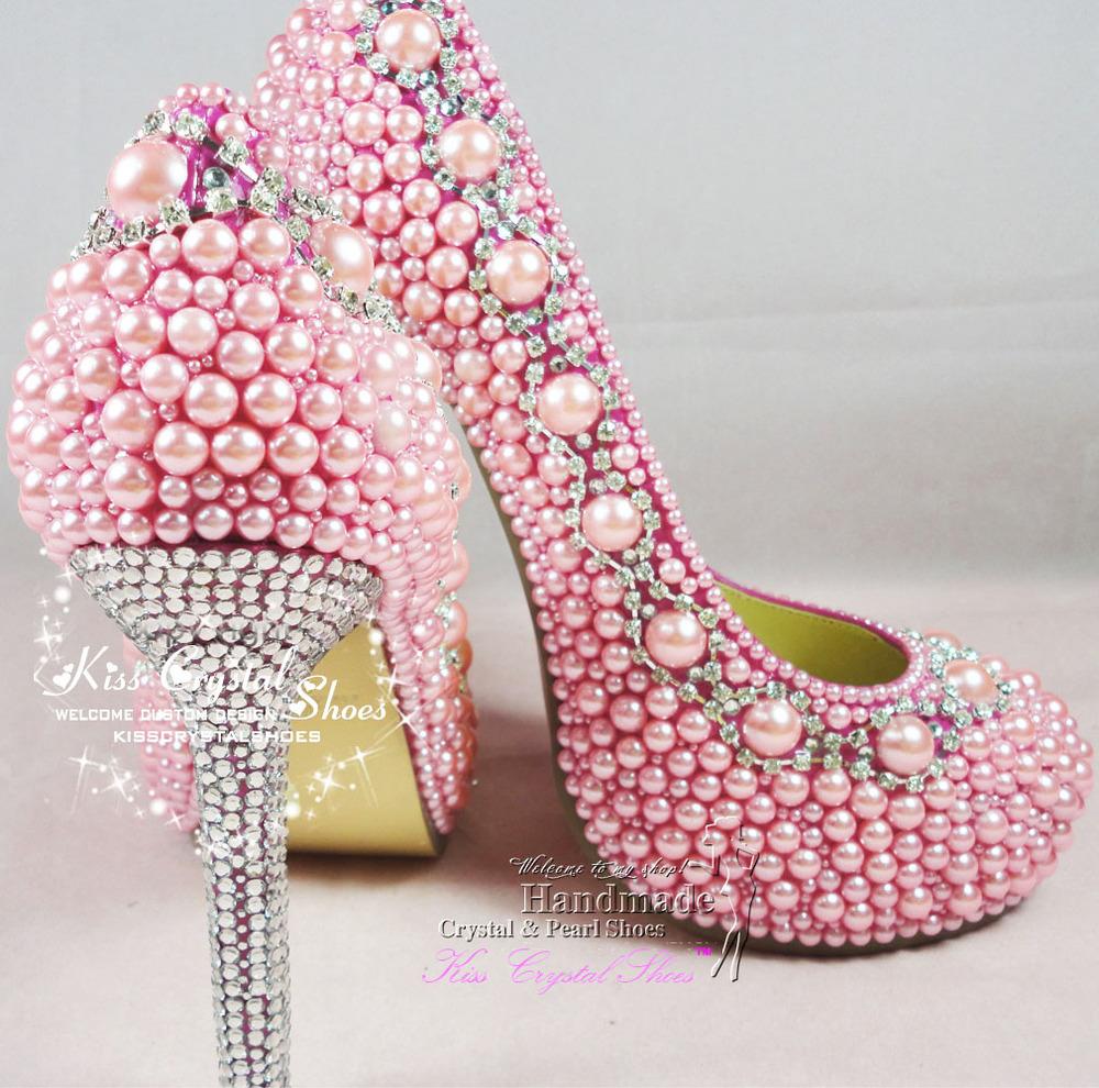 Pink Jeweled Heels Tsaa Heel