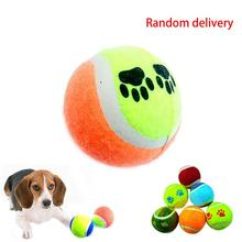 Christams promotions limit buy Candy color Dog Toy Tennis Balls Run Catch Throw Play Toy Chew Toys(China (Mainland))