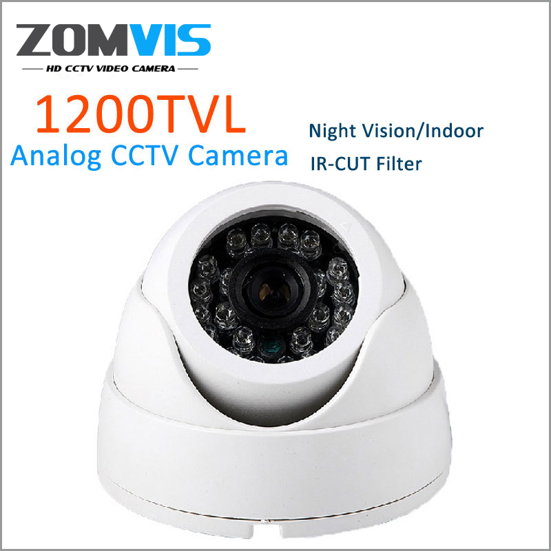 Security Camera HD 1200TVL CMOS 24 IR LED Color IR Night Vision Surveillance Dome CCTV Camera