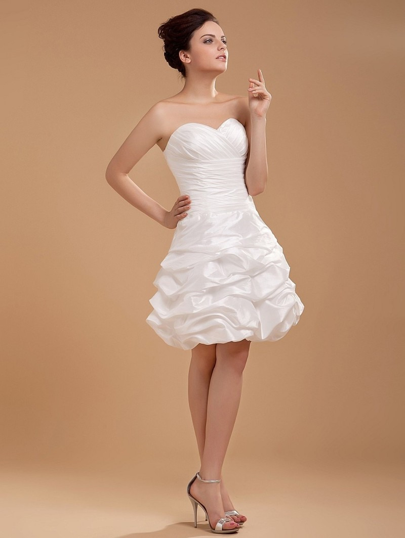 Cheap wedding dress beach short back zipper prices in for Cheap wedding dress from china