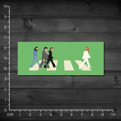 AUG286 Spoof The Beatles Digital Road Laptop Car Skins Waterproof PVC Luggage Sticker Notebook Decal Skin Stickers, 10 pcs/lot(China (Mainland))