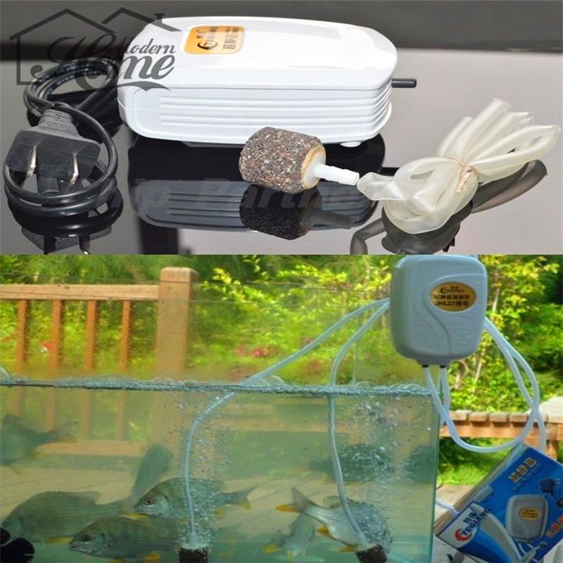 1pc Aquarium Filter Pumps Aquarium Fish Tank AC/DC Battery Backup Silent Air Pump Single Outlet Novelty Design Cool(China (Mainland))