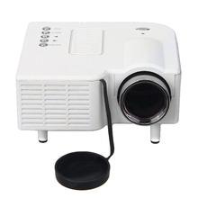 100% Original Excelvan Portable Mini LED Projector Cinema Theater PC&Laptop VGA/USB/SD/AV/HDMI Input White(China (Mainland))