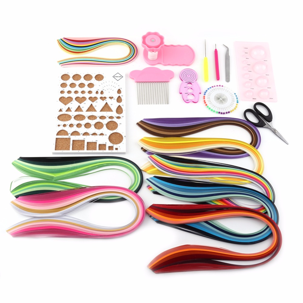 DIY 960 Strips Colorful Paper Quilling Paper Craft Scrapbooks Handmake Decoration Accessories Supplies 3mm/5mm Width(China (Mainland))