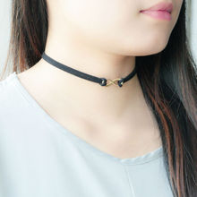 2016 New Hot Trend Simple Leather Strand Wrap Gold/Silver Plated Geometry Women Choker Fashion Jewelry Necklace For Girls(China (Mainland))