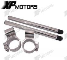 New CNC 1 Riser Clip On Higher Clipons Handlebar Universal Fit 36mm Forks Fits For CAFE
