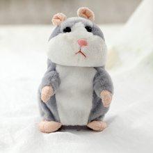 Dropshipping Promoção de 15 centímetros Adorável Falar Hamster Falar Falar Sound Record Hamster Repita Animal De Pelúcia Recheado Kawaii Brinquedos(China)