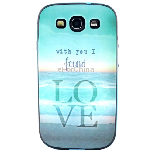 Cloud Swing Pattern Plastic Frame TPU Back Cover Protective Case for Samsung Galaxy S III / i9300(China (Mainland))