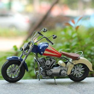 Vintage halley motorcycle model home decoration gift iron sheet gift