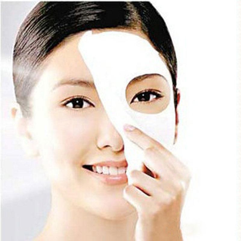 50PCS/LOT Good model Skin Face Care DIY Face Paper Compress Masque Mask(China (Mainland))