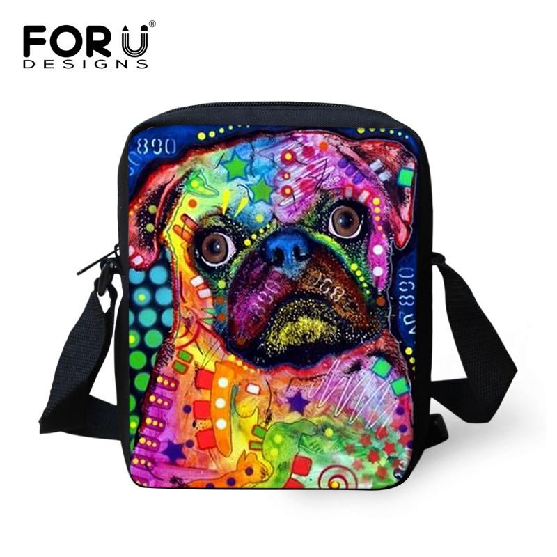 Famous Brand Designers Lady Messenger Bags Frenchie French Bulldog Print Cross Body Bag Mini 3D Art Pet Cat Travel Shoulder Bag(China (Mainland))