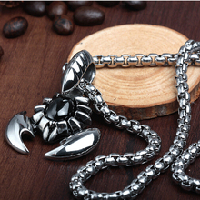 New Hot  Mens Necklaces Fashion Jewelry link chain scorpion pendant 316L Stainless steel Titanium Steel necklace for men ,ky-509(China (Mainland))
