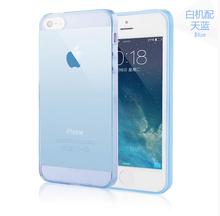 Чехол тпу, мягкий супер 0.3 мм ультра — тонкий прозрачный чехол для Iphone 5 5S 4 4S 6 4,7 » 6 большой 5,5 » кристалл задняя часть защитить кожу силикон