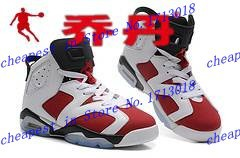 Fashion Carmine men jordan 6 men basketball shoes women retro 6 do honest job shipping top quality wholesale price siz e 36-47(China (Mainland))