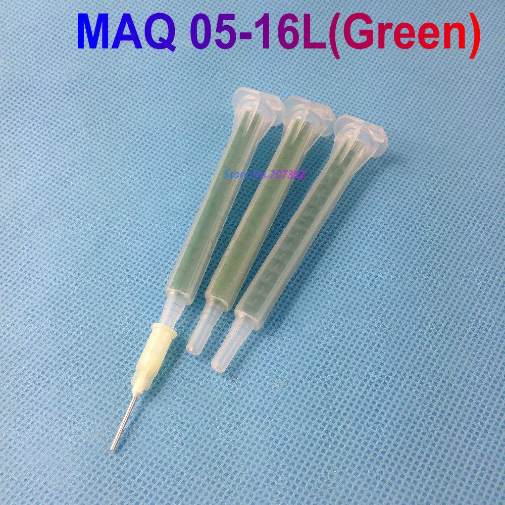 Epoxy Resin Static Mixer MAQ 05-16L (green) Square Tube Bayonet Mixer Mixing Nozzles for Duo Pack Epoxies(China (Mainland))
