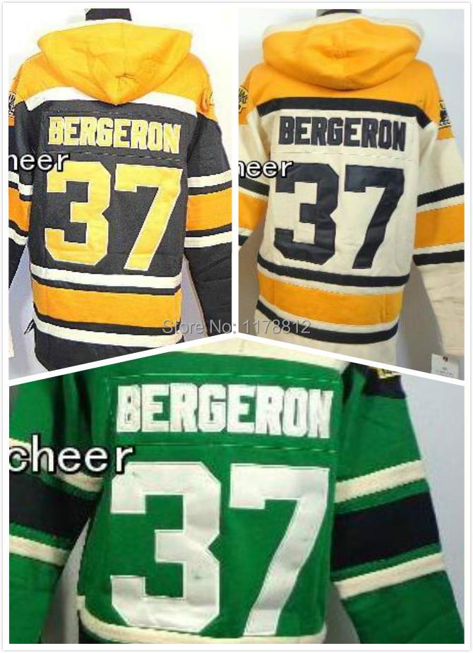 Boston Bruins Hoodie #37 Patrice Bergeron nhl hockey Sweatshirts  Fleeceold old time ice hockey hoodies  Stitched Drop Shipping