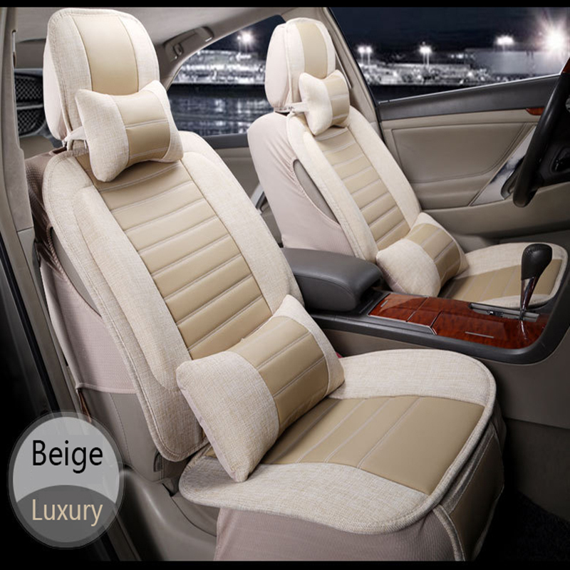Flax Bamboo Charcoal Car Seat Cushion Four Season Use Car Seat Mad Luxury Car Cover Front&Rear 5 Seat Universal(China (Mainland))