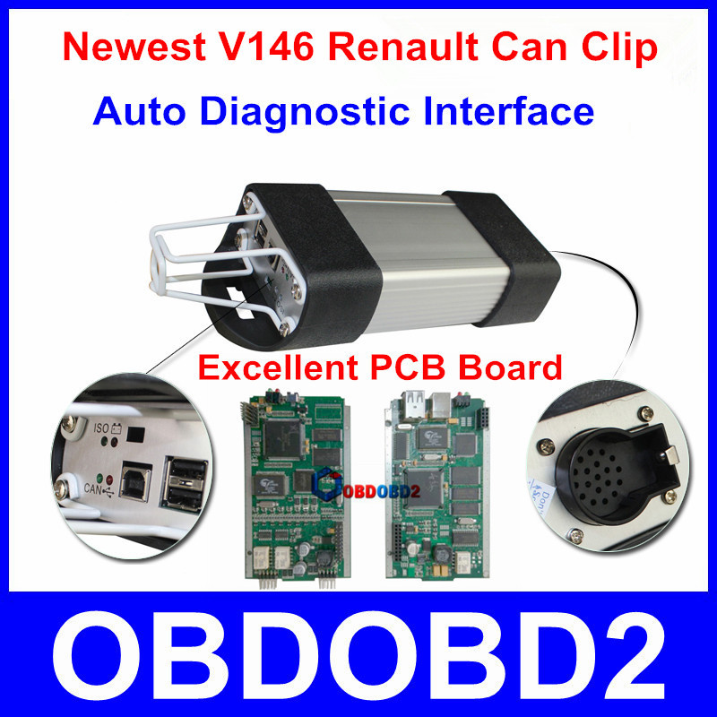 High Quality Renault Can Clip Auto Diagnostic Interface Multi-Languages Available Renault Clip Excellent PCB Board Best Service(China (Mainland))