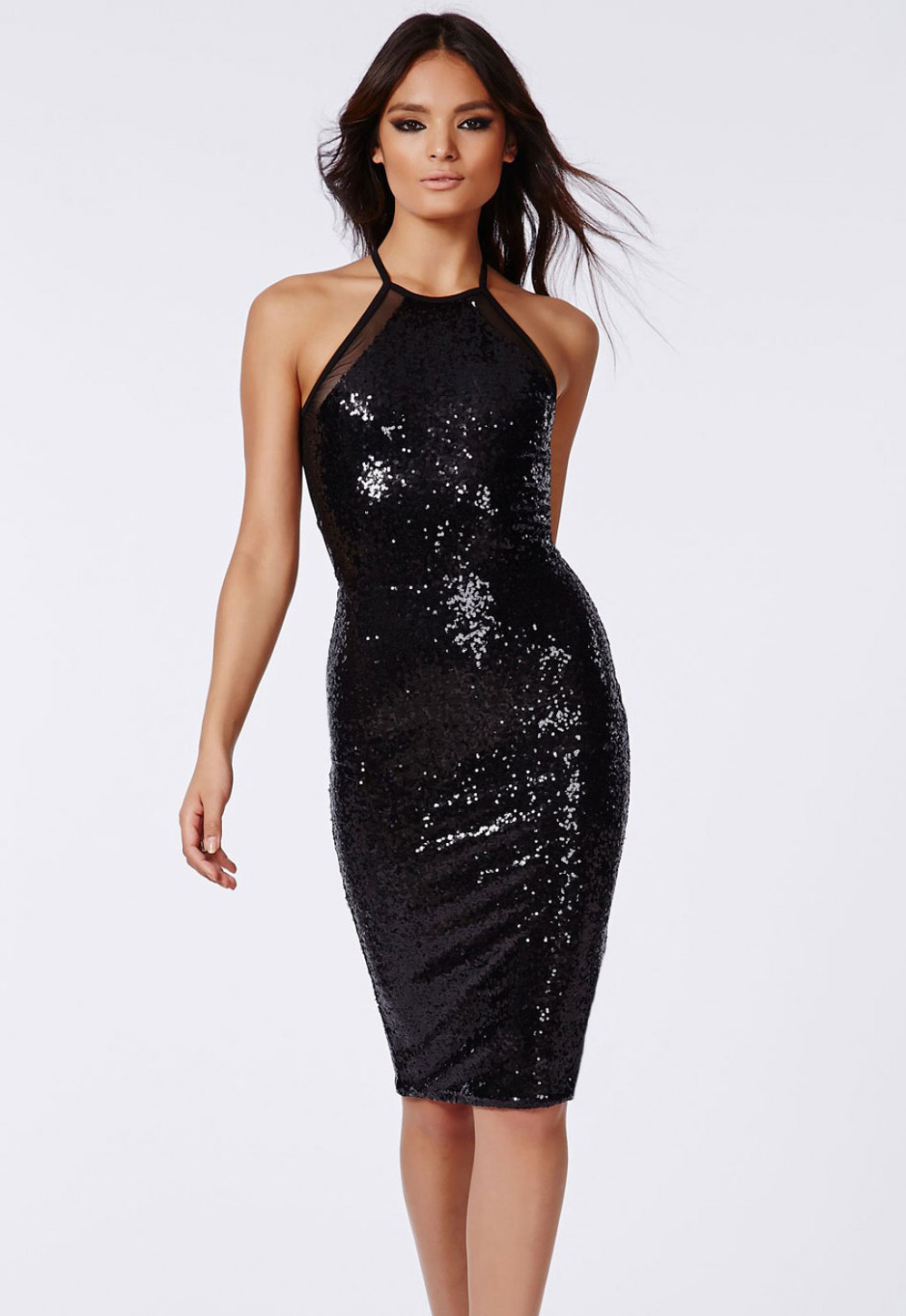 Sequin Cocktail Dress Knee
