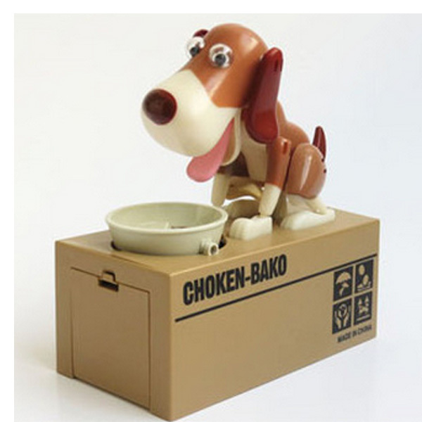 Puppy Hungry Eating Dog Coin Bank