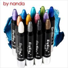 By NANDA makeup Eye Shadow & Liner Combination brand of glitter waterproof eyeliner pencil, 13 shimmer colors on optional(China (Mainland))